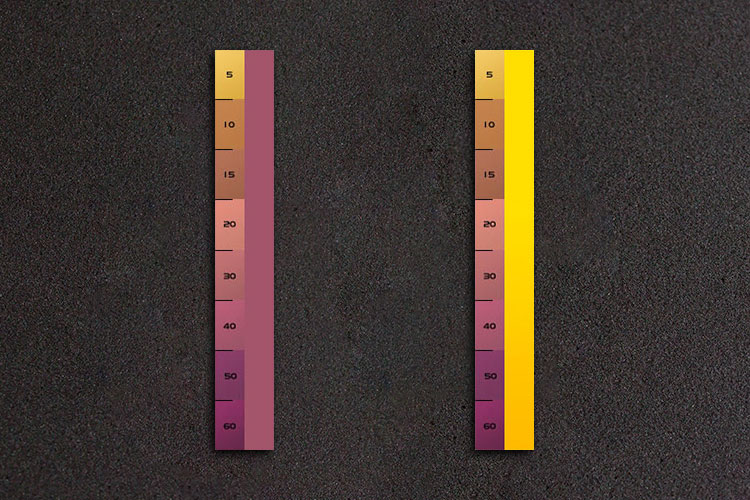 Control Strip, left: exposed, right: unexposed